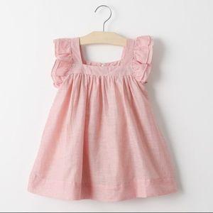 Toddler Girls' Frill Sleeve Pink Fly Dress